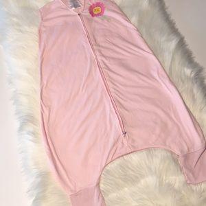 Halo pink knit sleepsack with leg holes 12-18M